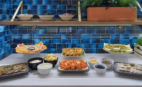 Cena buffet en el Restaurante Tortuga