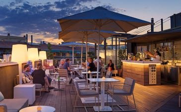 Sky Bar Terrace at dusk