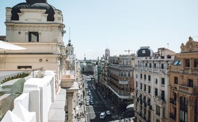 Views of Gran Via from the Hotel