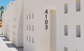Detalle de la arquitectura del hotel