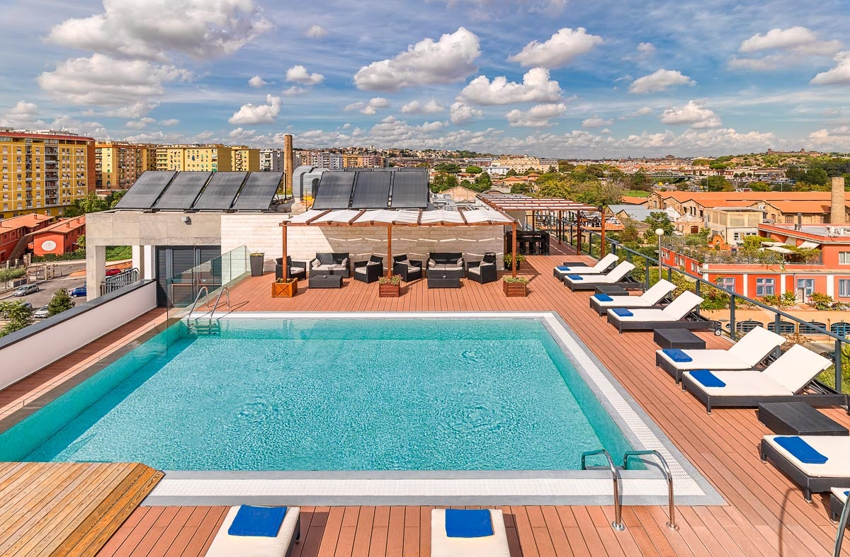 H10 roma citt hotel in rome marconi h10 hotels for What is a hotel terrace