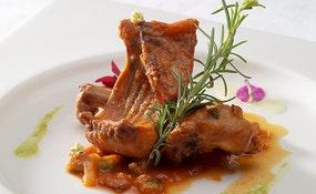 Gastronomia elaborada no Restaurante El Volcán