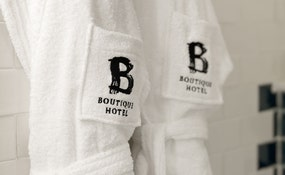 Detail bathrobe