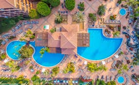 Air view of the hotel