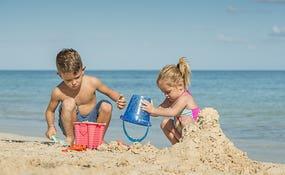 Playa en familia