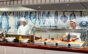 Restaurant buffet Tajinaste avec cuisine à la vue