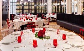 Banquet set-up in the restaurant