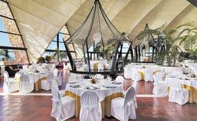Aufbau Hochzeit im Tirajana Salon