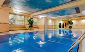 Covered and heated pool