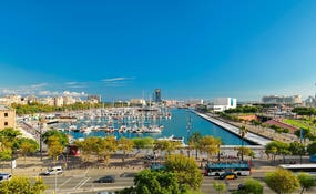 Views of Port Vell from the hotel