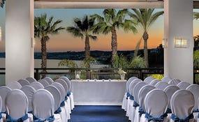 Special setup for weddings