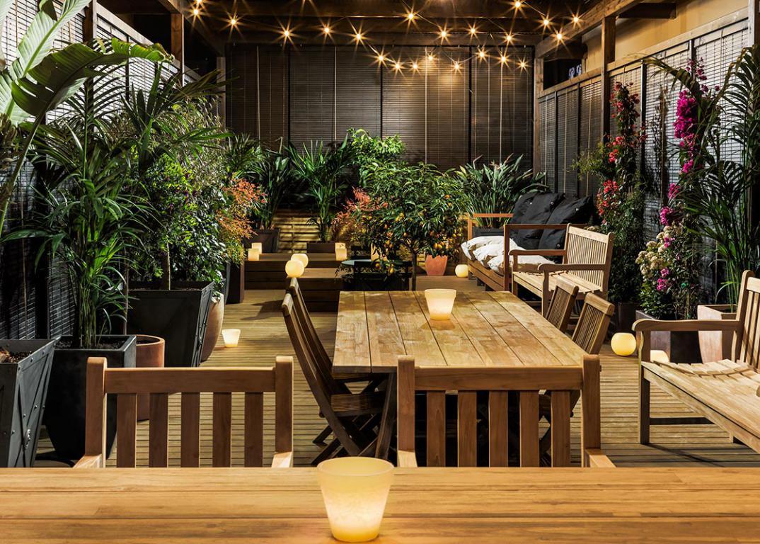 H10 catalunya plaza hotel boutique restaurantes y bares - Terrazas de barcelona ...